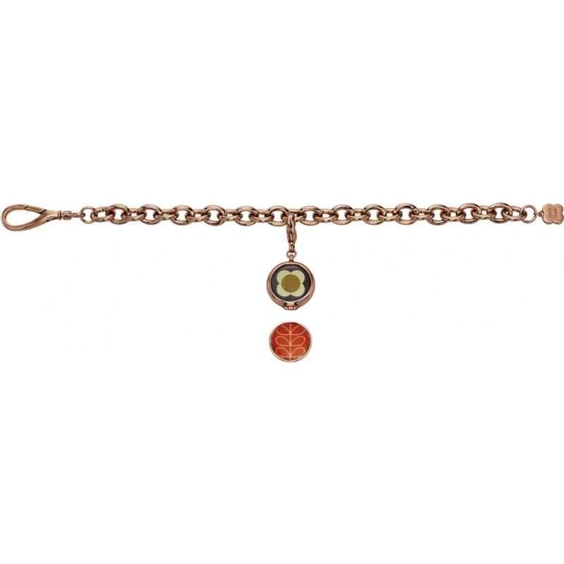 Orla Kiely B4794 Ladies Camille 18ct Gold  Reversible Charm Bracelet