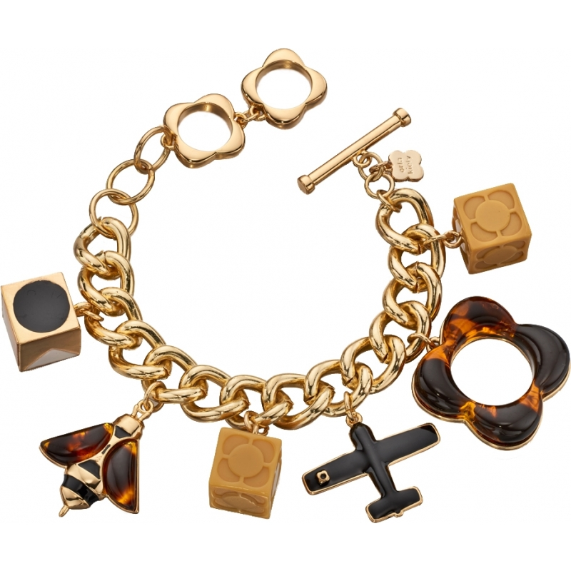 Orla Kiely B4860 Ladies Bee and Plane Charms Bracelet