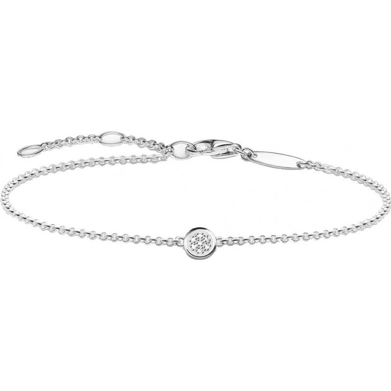 Thomas Sabo D-A0004-725-14-L19-5v Las señoras glamour y el alma 925 pulsera de plata diamante