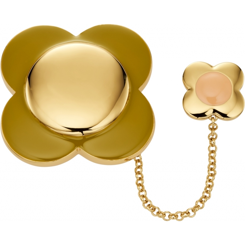 Orla Kiely D341 Ladies Daisy Chain 18ct Gold Plated Flower Brooch