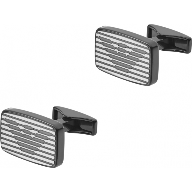 Emporio Armani EGS2179060 assinatura Mens dois botões de punho de aço de tom
