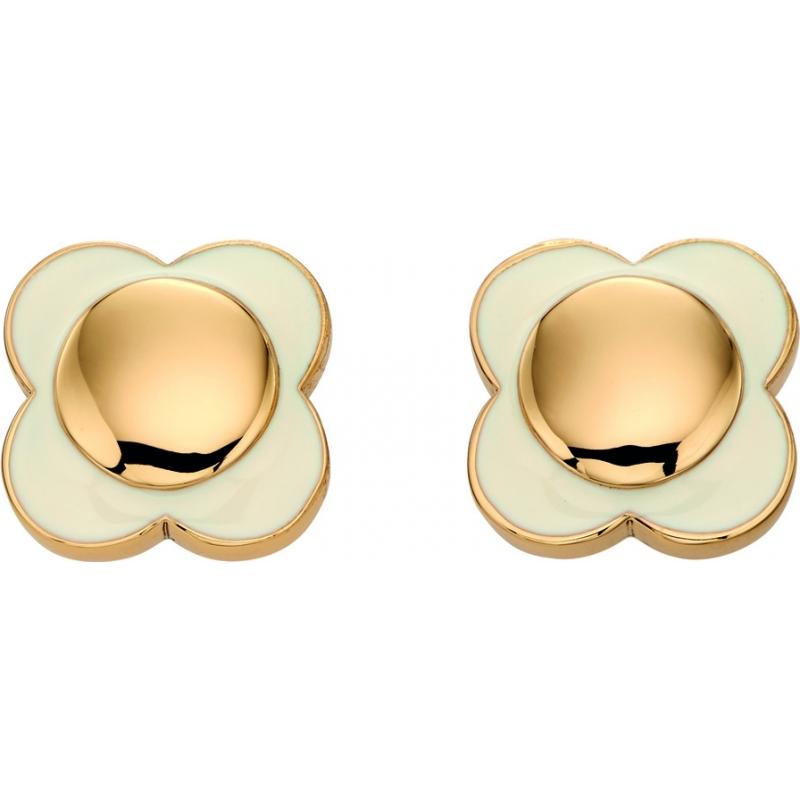 Orla Kiely E5160 Ladies Daisy Chain 18ct Gold Cream Flower Stud Earrings