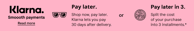 Klarna, Smooth payments, Pay later, Pay in 3, find out more