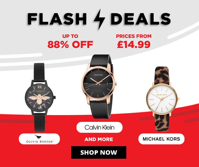Flash deals up to 88 percent off and prices from £14.99 on Michael Kors, Olivia burton, Calvin Klein and more