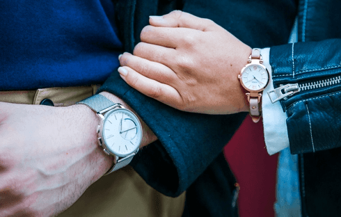 couple wearing watches