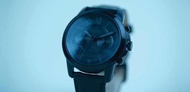 Reloj cronógrafo negro Fossil