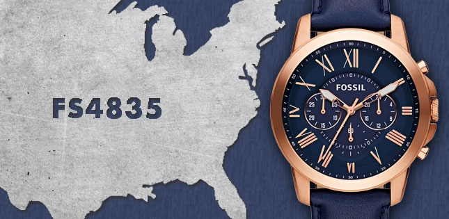 One to Watch: the navy Fossil FS4835