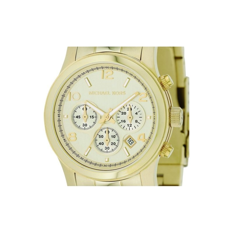 ce9565228906 MK5055 - Michael Kors Ladies Runway Gold Chronograph Watch