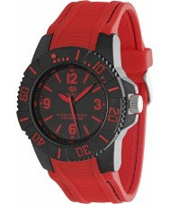 Marea Mens Sports Red Silicone Strap Watch