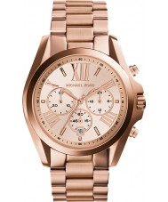 Michael Kors MK5503 Ladies Bradshaw Rose Gold Chronograph Watch