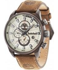 Timberland 14816JLBN-07 Mens Henniker II Brown Leather Strap Watch