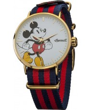 Disney by Ingersoll Mens Classic Mickey Mouse Blue and Red Nylon Strap Watch