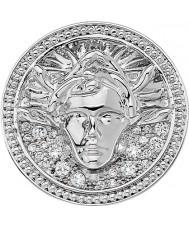 Emozioni Silver Tone Medusa Bianca Coin