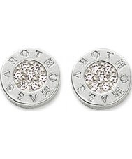 Thomas Sabo H1547-051-14 Ladies Signature Disc Stud Earrings with Zirconia Pave