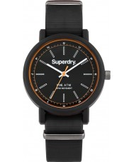 Superdry SYG197B Mens Campus Nato Black Silicone Strap Watch
