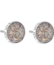 Emozioni DE454 Ladies Scintilla Champagne Silver Earrings