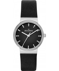 Skagen SKW2193 Ladies Ancher Black Leather Strap Watch