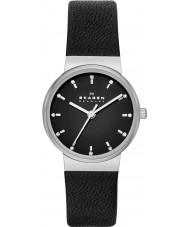 Skagen SKW2193 Ladies Ancher Black Leather Strap Watch