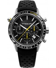 Raymond Weil 7740-SC1-20021 Mens Freelancer Black Leather Chronograph Watch