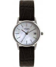 Rotary LS02750-41 Ladies Timepieces Steel Brown Leather Strap Watch