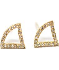 Babette Wasserman ER197G Ladies Tricorn Earrings