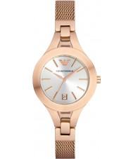 Emporio Armani AR7400 Ladies Rose Gold Plated Mesh Bracelet Watch