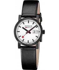 Mondaine A669-30305-61SBB Evo Black Leather Strap Watch