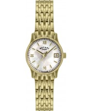 Rotary LB00794-41 Ladies Pearl Gold Plated Watch