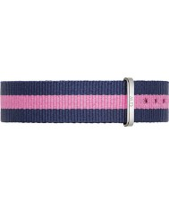 Daniel Wellington DW00200049 Ladies Classic Winchester 36mm Silver Blue and Pink Nylon Spare Strap