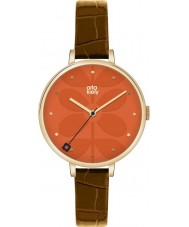 Orla Kiely OK2028 Ladies Ivy Brown Leather Strap Watch