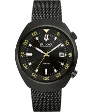 Bulova 98B247 Mens BA II Black IP Steel Mesh Watch