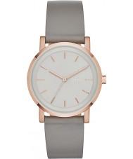DKNY NY2341 Ladies Soho Grey Leather Strap Watch