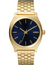 Nixon A045-1931 Mens Time Teller All Light Gold Cobalt Watch