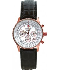 Krug Baümen 400702DS Air Traveller White Dial Black Leather Strap