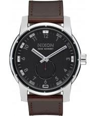 Nixon A938-000 Mens Patriot Black Horween Leather Watch