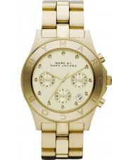 Marc Jacobs MBM3101 Ladies Blade Gold Chronograph Watch
