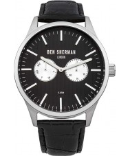 Ben Sherman WB024B Mens Spitalfields Social All Black Leather Strap Watch