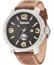 Timberland 14399XS-02 Mens Pinkerton Dark Brown Leather Strap Watch