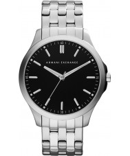 Armani Exchange AX2147 Mens Black Silver Bracelet Dress Watch