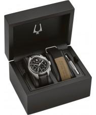 Bulova 96B251 Mens Lunar Pilot Chronograph Watch Gift Set