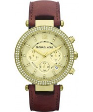 Michael Kors MK2249 Ladies Parker Glitz Brown Chronograph Watch