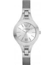 Emporio Armani AR7401 Ladies Silver Plated Mesh Bracelet Dress Watch