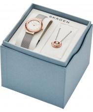 Skagen SKW1112 Ladies Leonora Watch and Necklace Gift Set