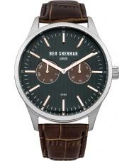 Ben Sherman WB024BR Mens Spitalfields Social Brown Leather Strap Watch