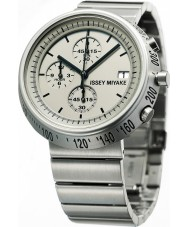 Issey Miyake AZ002 Mens Trapezoid Silver Chronograph Watch