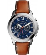 Fossil FS5210 Mens Grant Brown Leather Chronograph Watch