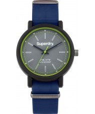 Superdry SYG197U Mens Campus Nato Blue Silicone Strap Watch