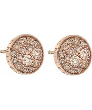 Emozioni DE455 Ladies Scintilla Champagne Rose Gold Plated Earrings