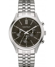 Caravelle New York 43A133 Unisex Dress Silver Chronograph Watch