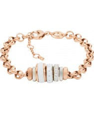 Fossil JF01121998 Ladies Classics Rose Gold Steel Chain Bracelet